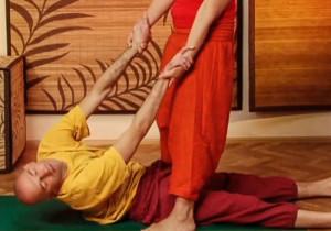 Парная йога - Пашчимоттанасана (поза солнца)